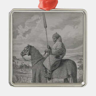 Baghirmi trooper in quilted armour christmas tree ornaments