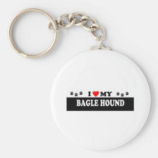 BAGLE HOUND KEYCHAIN