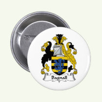 Bagnall Family Crest Button