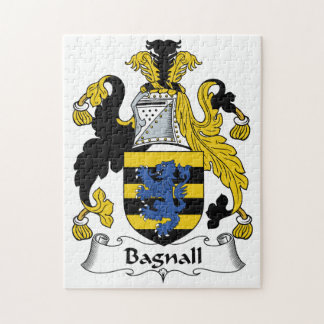 Bagnall Family Crest Jigsaw Puzzle