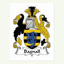 Bagnall Family Crest Postcard