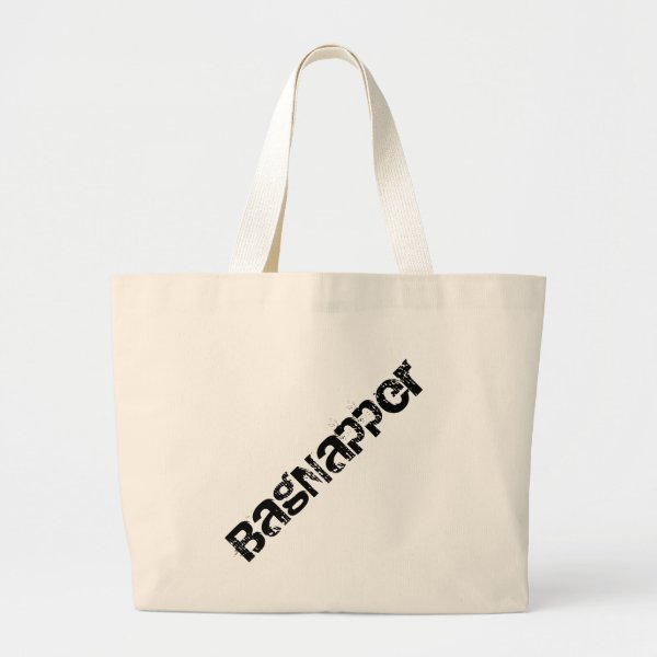 Bagnapper Black Text Large Tote Bag