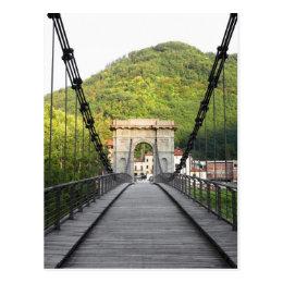 Bagni di Lucca, Tuscany, Italy - An old bridge Postcard