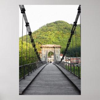 Bagni di Lucca, Tuscany, Italy - An old bridge Poster