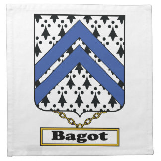 Bagot Family Crest Napkin