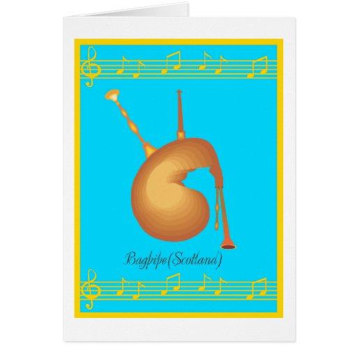 bagpipe card
