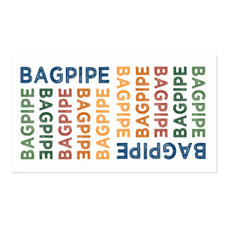 Bagpipe Cute Colorful Business Card Templates