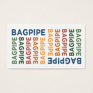Bagpipe Cute Colorful Business Card