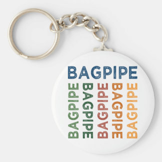 Bagpipe Cute Colorful Keychain
