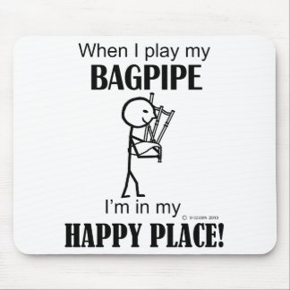 Bagpipe Happy Place Mousepad