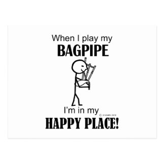 Bagpipe Happy Place Postcard