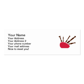 Bagpipe instrument business card
