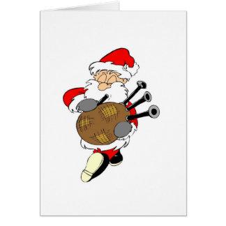 Bagpipe Irish Santa Claus Card