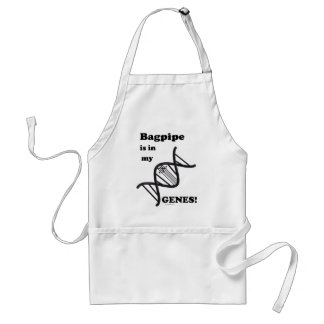 Bagpipe Is In My Genes Adult Apron