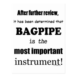 Bagpipe Most Important Instrument Postcard