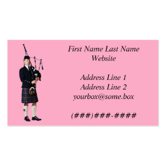 Bagpipe Musician Business Cards