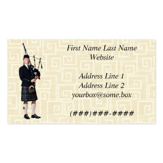 Bagpipe Musician Double-Sided Standard Business Cards (Pack Of 100)