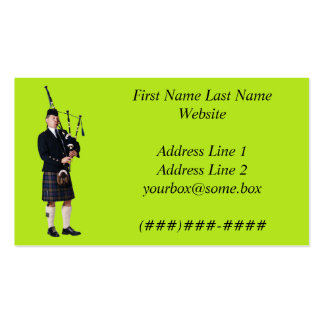 Bagpipe Musician Business Card Templates