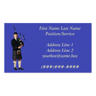 Bagpipe Musician Business Card Template