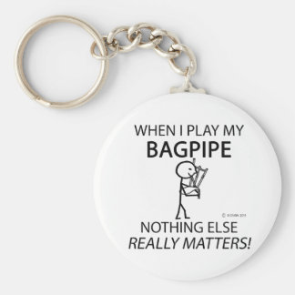 Bagpipe Nothing Else Matters Basic Round Button Keychain
