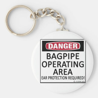 Bagpipe Operating Area Keychain