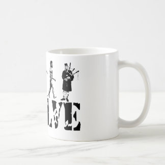 Bagpipe Pipers Bagpiper Musical Evolution Art Coffee Mug