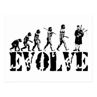 Bagpipe Pipers Bagpiper Musical Evolution Art Postcard