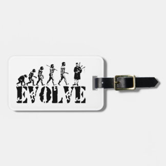Bagpipe Pipers Bagpiper Musical Evolution Art Tag For Luggage