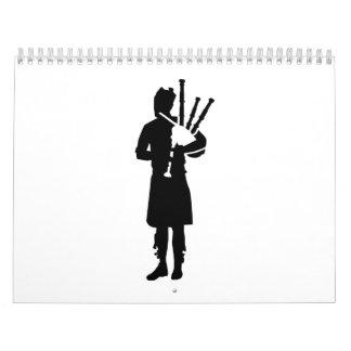 Bagpipe player calendar