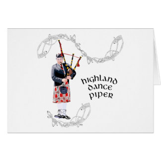Bagpipe Player in Red Kilt Card