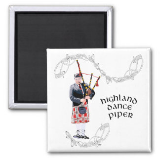 Bagpipe Player in Red Kilt Refrigerator Magnet