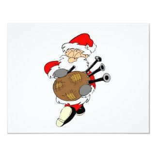 Bagpipe Santa Card