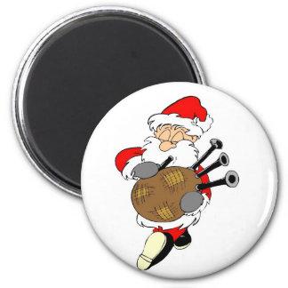 Bagpipe Santa Magnet