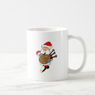 Bagpipe Santa Classic White Coffee Mug