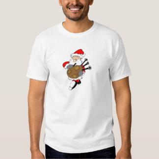 Bagpipe Santa Tee Shirt