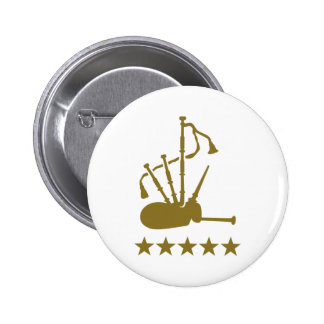 Bagpipe stars 2 inch round button