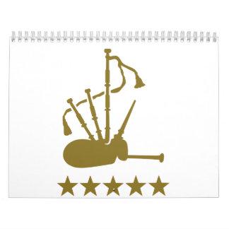 Bagpipe stars calendar