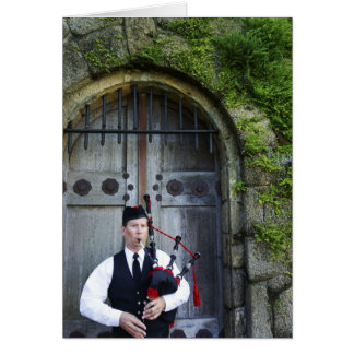 Bagpiper at Castle Card