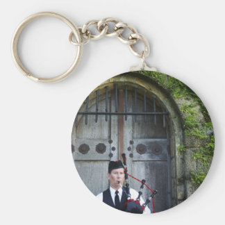 Bagpiper at Castle Key Chains