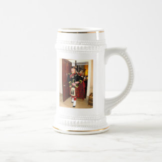 Bagpiper Beer Stein