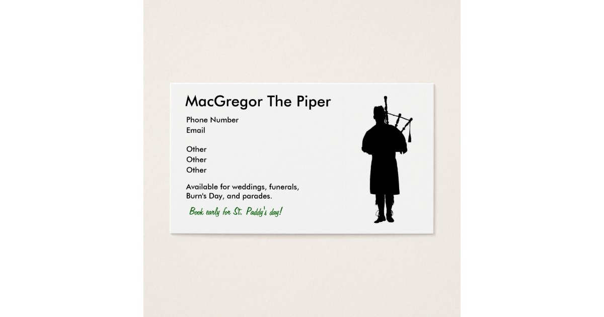 Performer Business Cards & Templates | Zazzle