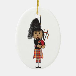 Bagpiper Ceramic Ornament