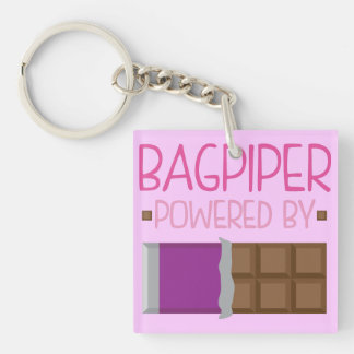 Bagpiper Chocolate Gift for Woman Keychain