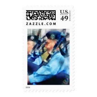 Bagpiper Closeup Stamp