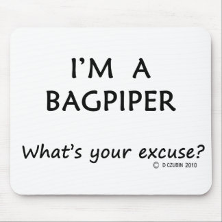 Bagpiper Excuse Mouse Pads