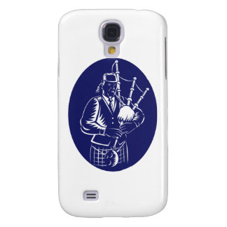 Bagpiper Playing Scottish Great Highland Bagpipe Samsung Galaxy S4 Cover