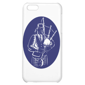 Bagpiper Playing Scottish Great Highland Bagpipe Cover For iPhone 5C