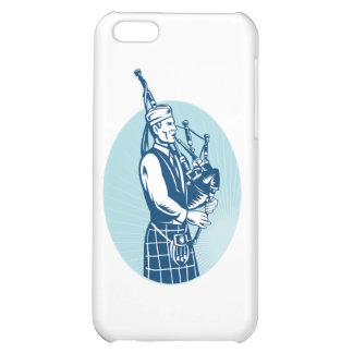 Bagpiper Playing Scottish Great Highland Bagpipe iPhone 5C Case