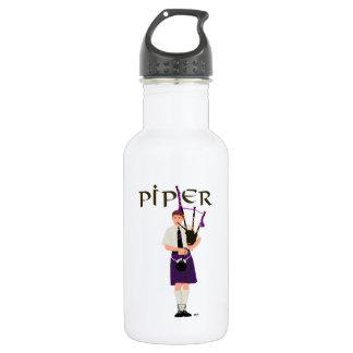 Bagpiper - Purple Kilt Water Bottle