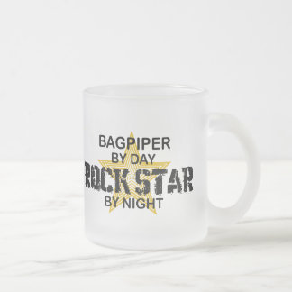 Bagpiper Rock Star by Night 10 Oz Frosted Glass Coffee Mug